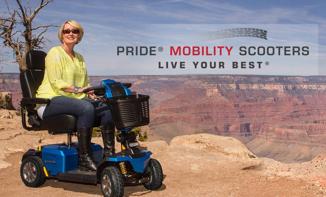 Pride® Mobility THREE and FOUR Wheeled Scooters