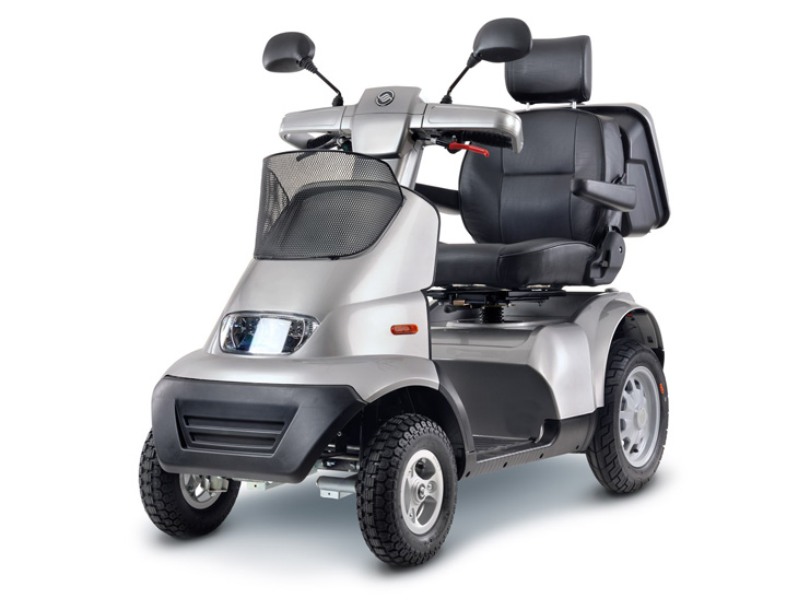 Afiscooter Breeze S 4 wheel scooter suspension ev-rider
