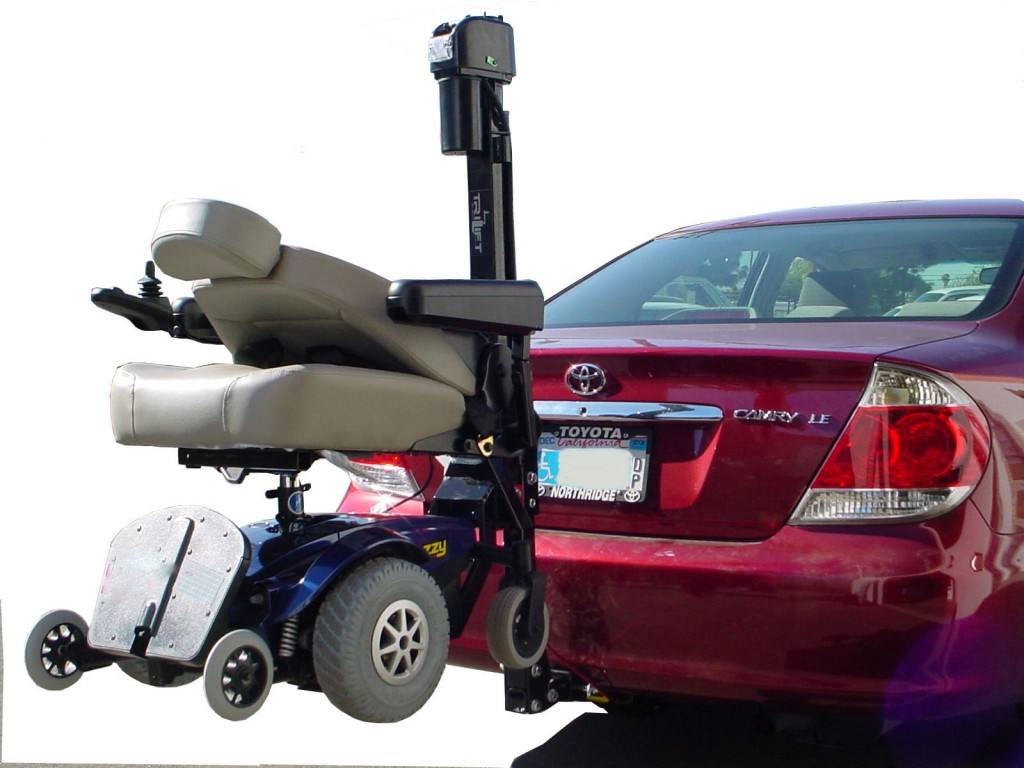 los angeles class 3 trailer hitch mobility senior wheelchair scooter lift